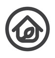 eco house logo vector image