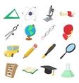 Education cartoon icons