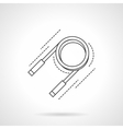 Expander flat line icon vector image vector image