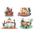 family christmas activity winter holidays vector image vector image