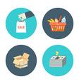 flat design icons e-commerce internet sh vector image