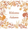 Flat design style Welcome Autumn card vector image vector image