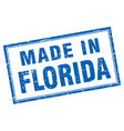 florida blue square grunge made in stamp vector image vector image