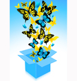 Flying out butterflies vector image vector image