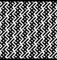 geometric seamless pattern black and white vector image vector image