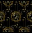 geometric unicorn seamless pattern vector image vector image