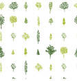 green forest seamless pattern in geometric vector image vector image