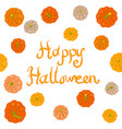 halloween pumpkins greeting card vector image vector image