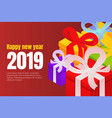 happy new year gift boxes concept background vector image vector image