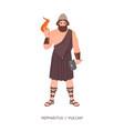 hephaestus or vulcan - god or deity blacksmiths vector image