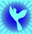 international bird day pop art vector image vector image