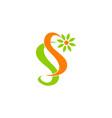 letter s flower vector image