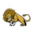 Lion Soccer Mascot vector image vector image