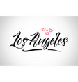 los angeles city design typography with red heart vector image