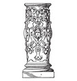 lower part of column profiled shaft profiled vector image vector image