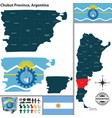 map of chubut province argentina vector image vector image