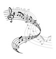 music poster or notes staff icon vector image vector image