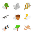 nature preserve icons set isometric style vector image vector image