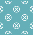 no sign pattern seamless blue vector image vector image