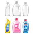 plastic bottles for cleaning products vector image