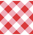 red seamless table cloth texture vector image vector image