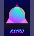 retro futurism vintage 80s or 90s geometric style vector image vector image