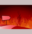 road to hell and direction sign vector image vector image
