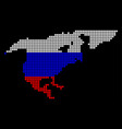 russia colors dot north america map vector image