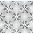 seamless retro pattern with snowflakes can be vector image vector image