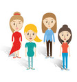 set avatars women of different diversity over vector image vector image
