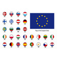 Set flags european union big