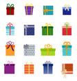 set of christmas gifts vector image vector image