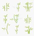 set of green bamboo vector image vector image