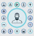set of simple religion icons vector image vector image
