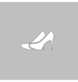 shoes computer symbol vector image