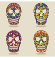 skull with kaleidoscope pattern vector image
