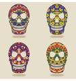 skull with kaleidoscope pattern vector image vector image