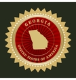 Star label Georgia vector image
