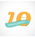 Template Logo 10th Anniversary vector image vector image