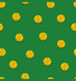 tennis balls seamless background vector image vector image