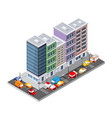top view transport road vector image vector image