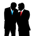 two businessmen discreet conversation vector image vector image