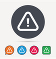 warning icon attention exclamation sign vector image