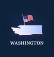 washington state isometric map and usa national vector image vector image