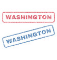 washington textile stamps vector image vector image