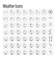 Weather Icons 1 vector image