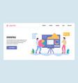web site gradient design template data vector image vector image