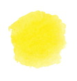 Yellow watercolor spot vector image vector image