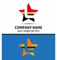 Letter L logo with star icon vector image