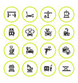 set round icons of car service equipment vector image